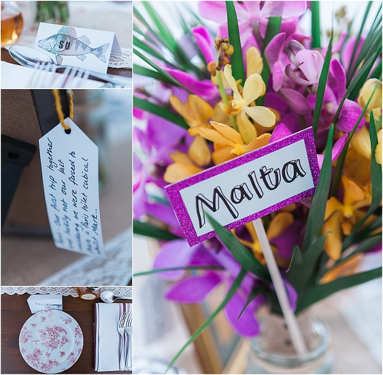 Travel inspired wedding at The Perch, Oxford