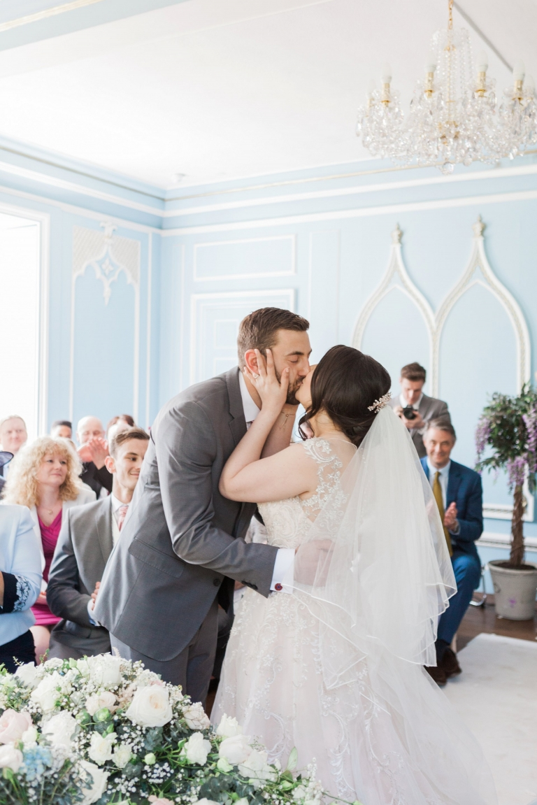 Wedding ceremony at Hutton Hall, image by Essex wedding photographer Amanda Karen Photography